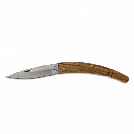 Cuchillo artesano Gobbo con mango curvo en cuerno o madera Made in Italy - Gobbo