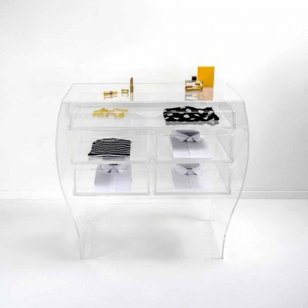 Dresser 5 cajones moderno diseño transparente plexiglás Billy