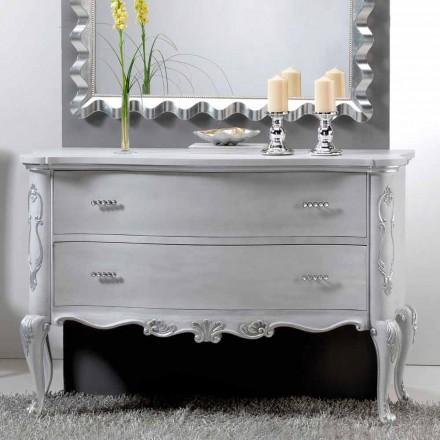 Dresser diseño clásico y mangos de madera maciza de hueso de cristal