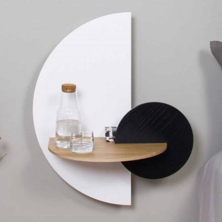 Mesita de noche modular moderna en madera contrachapada de diseño elegante y versátil - Ramia