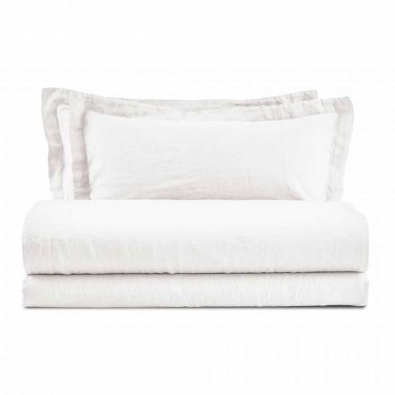 Juego de sábanas de color puro lino para la cama doble - Opulence