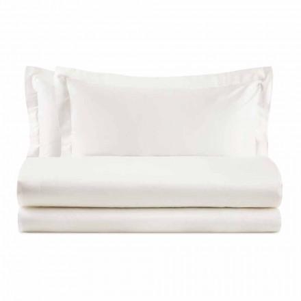 Elegante juego de cama doble en algodón satinado - Violetta