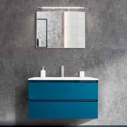 Mueble de baño 90 cm, lavabo moderno y espejo - Becky
