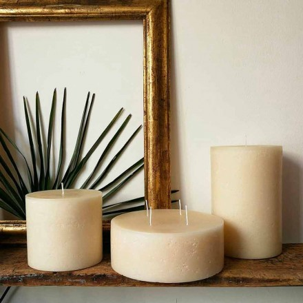 Composición de 3 modernas velas redondas de cera Made in Italy - Candie