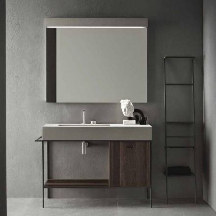 Composición de muebles artesanales para baño de diseño moderno en el suelo - Farart3