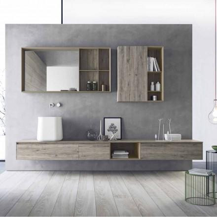 Composición de muebles de baño modernos, diseño suspendido Made in Italy - Callisi6