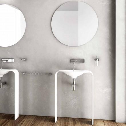 Moderna composición de los muebles del piso del baño hecho en Italia Siena