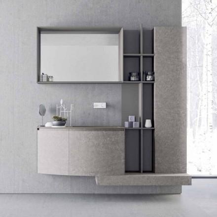Composición de baño, suspensión de diseño italiano moderno - Callisi10