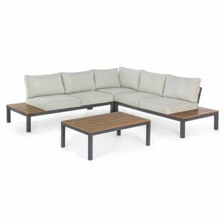 Composición de sala de estar al aire libre angular con estructura de aluminio - Verve