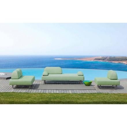 Composición de la sala de estar al aire libre en tela de diseño Made in Italy - Selia