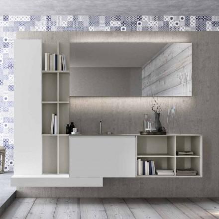 Composición de muebles de baño suspendidos con diseño moderno Made in Italy - Callisi15