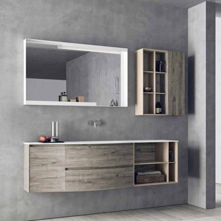 Composición de diseño suspendido, muebles de baño de diseño moderno - Callisi5