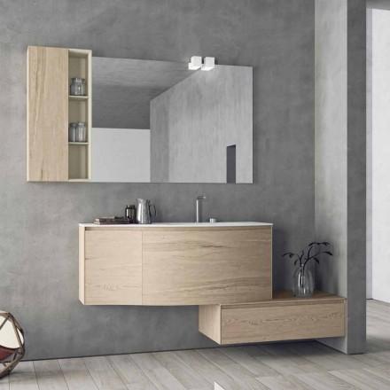 Composición suspendida y moderna para el baño, diseño Made in Italy - Callisi4