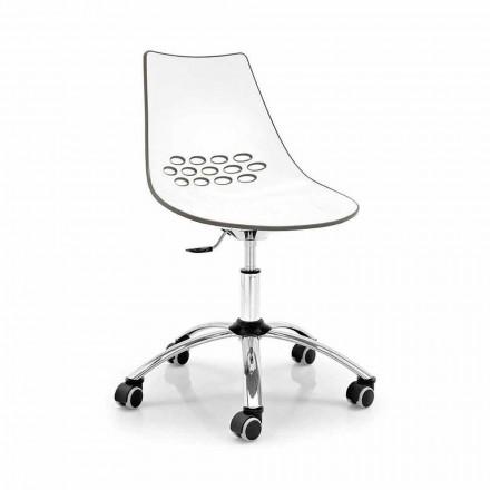 Connubia Calligaris Jam moderna silla giratoria de oficina, 2 piezas