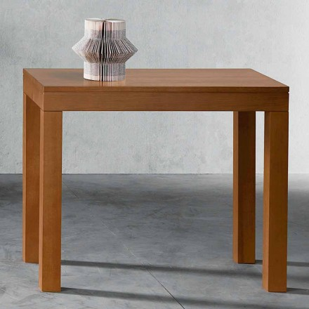 Consola extensible hasta 12 asientos en madera de nogal Made in Italy - Picchia