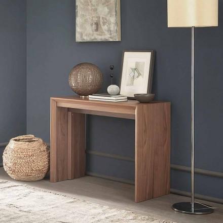 Consola de mesa extensible hasta 295 cm en madera Diseño Made in Italy - Temocle