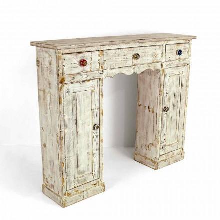Consola artesanal en madera maciza de abeto Made in Italy - Carminia