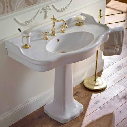 Consola de baño de cerámica vintage en Colonna, Made in Italy - Paulina