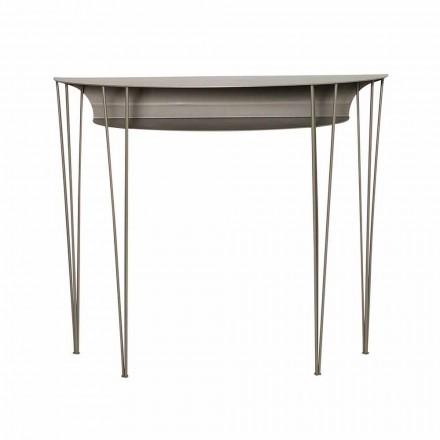 Consola para sala de estar de estilo moderno en acero Made in Italy - Adalgiso