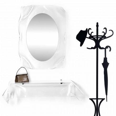 Consola de diseño moderno en plexiglás transparente drapeado Wish
