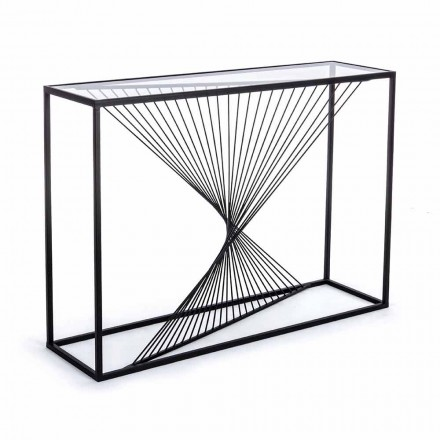 Consola en acero y vidrio Diseño moderno Espiral original - Sasuke