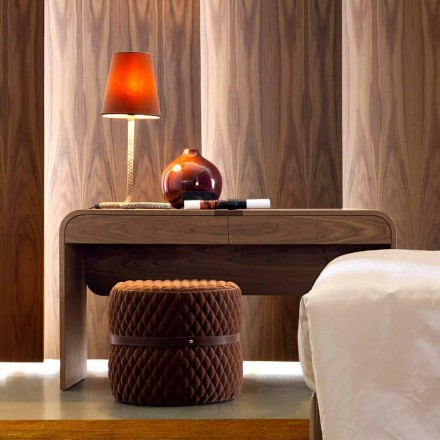 Grilli York diseño hecho en Italia mesa consola de madera maciza