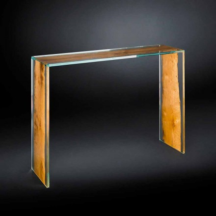 Console moderna cristal y madera Briccola Veneciana Venezia