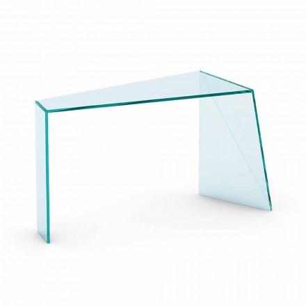Consolle de Entrada Moderno de Vidrio Trasparente Hecho en Italia - Rosalia
