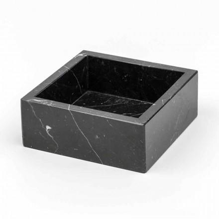 Contenedor cuadrado en mármol de Carrara o Marquinia Made in Italy - Torre