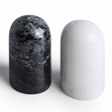 Contenedores de sal y pimienta en mármol de Carrara y Marquinia Made in Italy - Xino