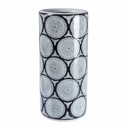 Par de paragüero moderno de porcelana con decoraciones Homemotion - Jimbo