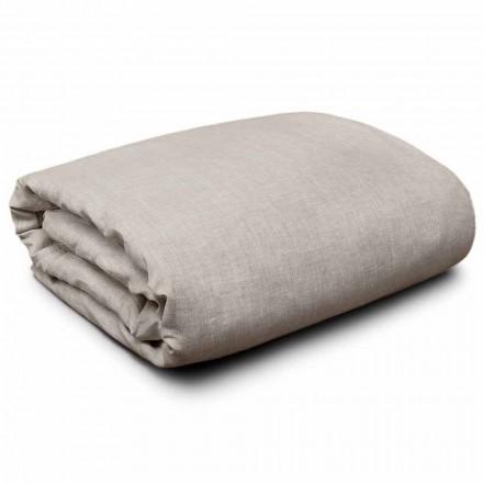 Funda nórdica en lino natural para camas extra grandes, individuales y grandes Hecho en Italia - Blessy