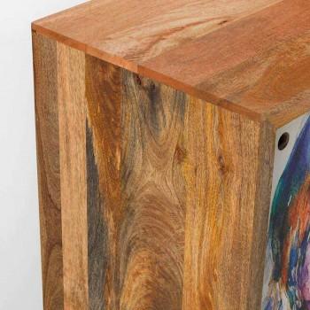 Aparador con dos puertas correderas en madera de mango, Cepagatti
