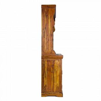 Aparador alto de estilo clásico con estructura de madera maciza de acacia - Umami