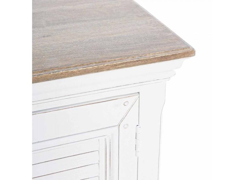 Aparador con estructura en madera de mango blanco Diseño clásico - Baffy