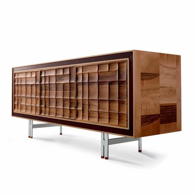 Aparador de diseño moderno con 3 puertas de madera maciza Anna