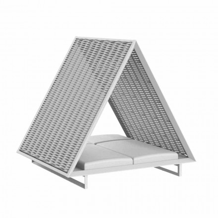 Tumbona de jardín de lujo de aluminio y tela - Frame Vineyard by Vondom