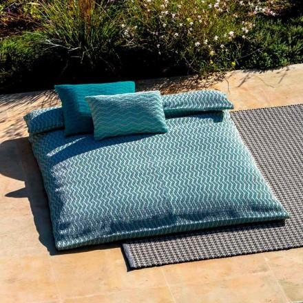 Sofá cama doble exterior de diseño de lujo Made in Italy - Emanuela