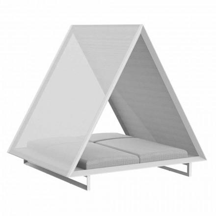 Sofá cama para exterior en aluminio y tela de diseño de lujo - Frame Vineyard by Vondom
