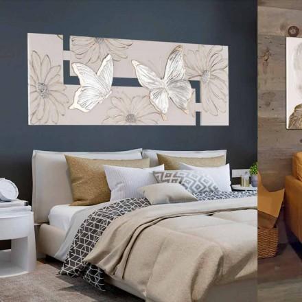 Cuadro de doble elo pintado a mano con mariposas hecho en Italia Martina