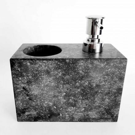 Dispensador de jabón líquido con cristal de mármol Made in Italy - Clik