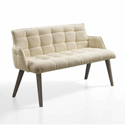 Sofá de lujo con asiento tapizado en tela Made in Italy - Clera