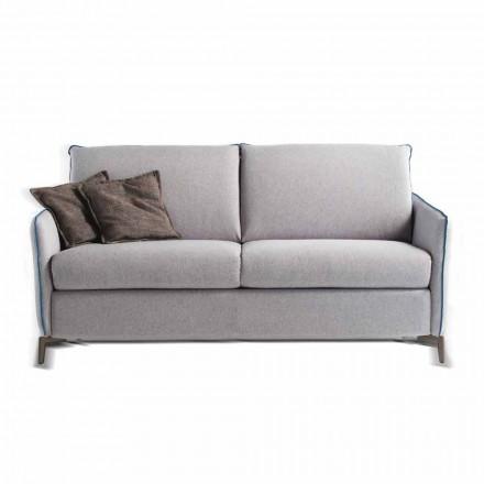 Sofá de 3 plazas de tela de diseño L.185cm / imitación de cuero made in Italy Erica