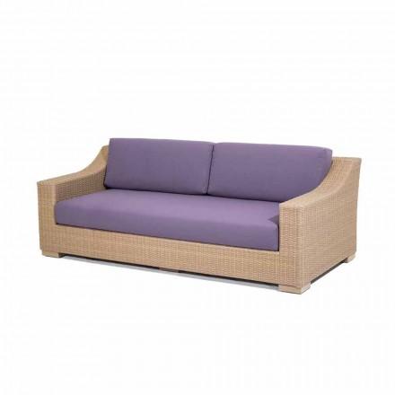 sofá de 3 plazas de polietileno al aire libre y Joe Tempotest