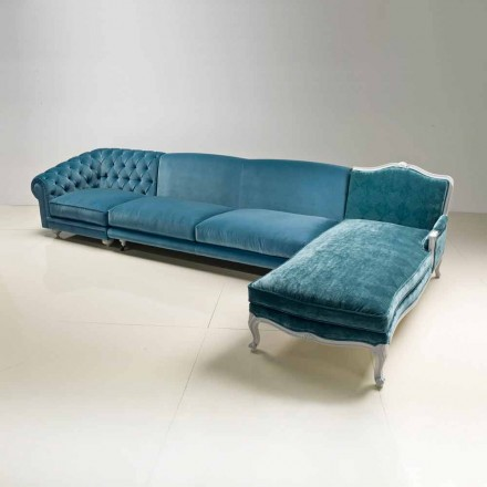 Sofá de esquina de diseño clásico de lujo, fabricado en Italia, Narciso