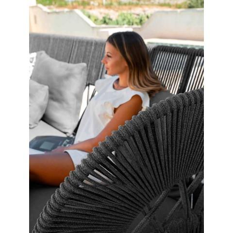 Sofá Chaise Longue para exterior de cuerda y tela - Cliff Decò by Talenti
