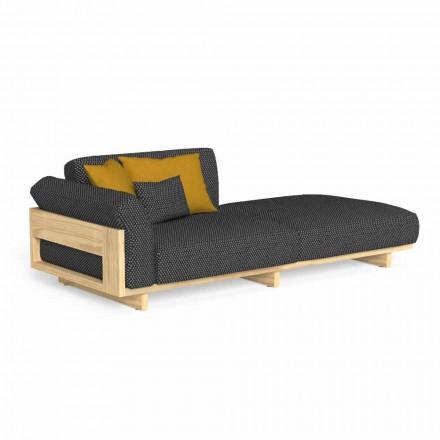 Chaise Longue de exterior tapizado en madera de alta calidad - Argo by Talenti