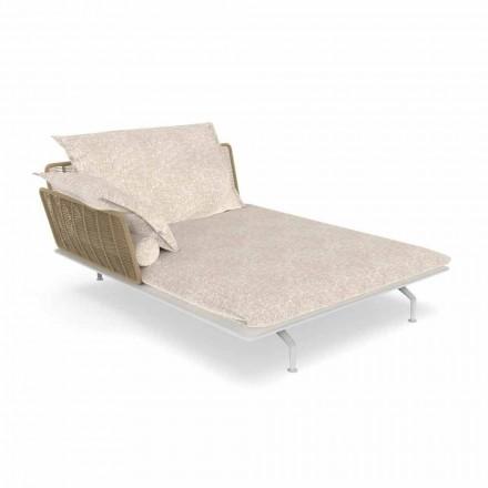 Sofá de jardín con chaise longue de aluminio y tela - Cruise Alu by Talenti