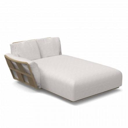 Sofá de jardín con chaise longue de tela y aluminio - Scacco by Talenti