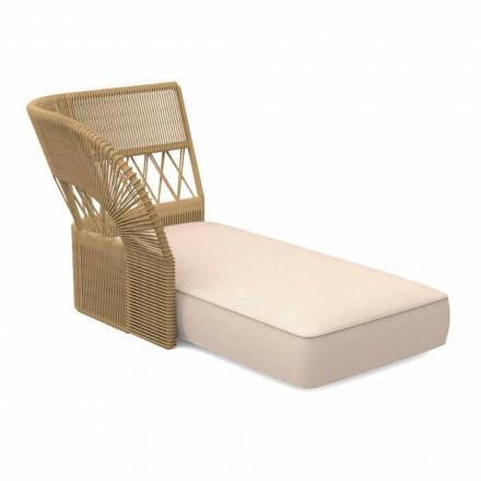 Sofá de jardín con chaise longue de tela y cuerda - Cliff Decò by Talenti